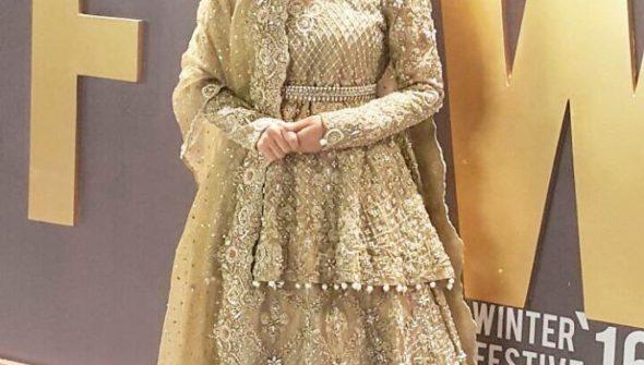 Ayeza at Fashion Pakistan Week (FPW) 2016 event.